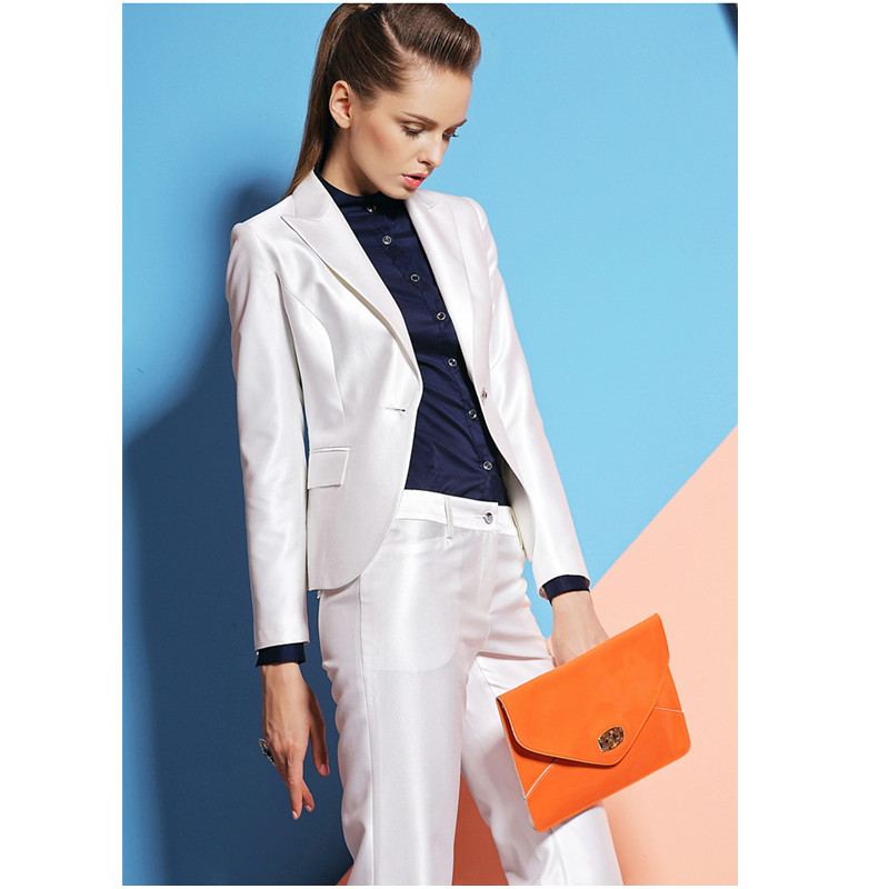 Women Business Suits Formal Office Suit Work White Ladies Elegant Pant Suits for Weddings Tuxedo Female Trouser Suit Custom Made