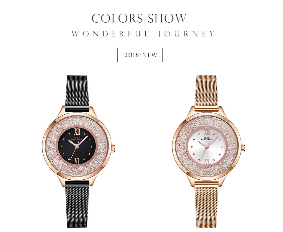 IBSO Brand Women Fashion Watch 2018 Mesh Strap Watch Female Watch 06