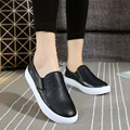 Hot Sale 2016 Fashion PU Leather Woman Loafers Comfortable Flat Casual Shoes Wild Student Single Shoes Black Size 35-40 ST358