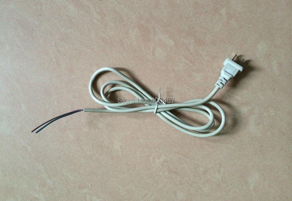 2 pin flat plug power cord,white 2 cores power line,electric fan ...