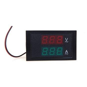 Venta caliente medidor de voltaje LED amperímetro voltímetro con transformador de corriente AC80-300V 0-100.0A pantalla Dual