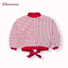 Kids Sweater for Girls  2017 Christmas Winter New Children Thick Warm Long Sleeve Baby Girls Sweaters Striped Tops Cardigan
