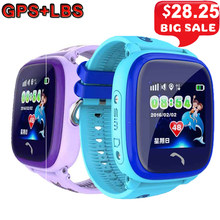 DF25 GPS Kids Smart Watch Baby Anti-lost Wristwatch SOS Call Location Tracker Kids Safe Monitor Waterproof Kids Smartwatch Clock(China)