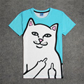Fashion Rip N Dip Lord Nermal 3D Print T-shirt Cotton Unisex Summer Tee Shirts Teen Loose Homme Tops The ripndip Cat