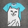 Moda Rip N Dip Senhor Nermal 3D T-shirt da Cópia de Algodão Unisex Verão Camisetas Homme Adolescente Solto Tops O ripndip gato
