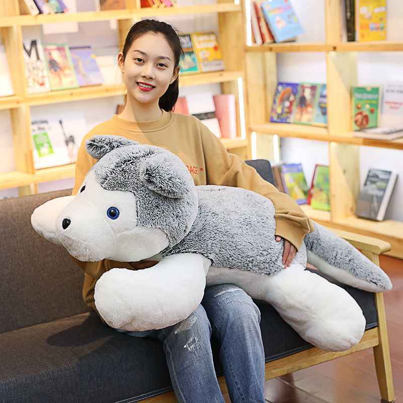60/80 Cm Soft Husky Plush Toy Stuffed Toys For Children