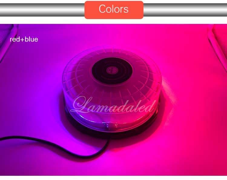 18 cm žuto bijela okrugla LED strobosvjetla svjetiljka krov - Svjetla automobila - Foto 3