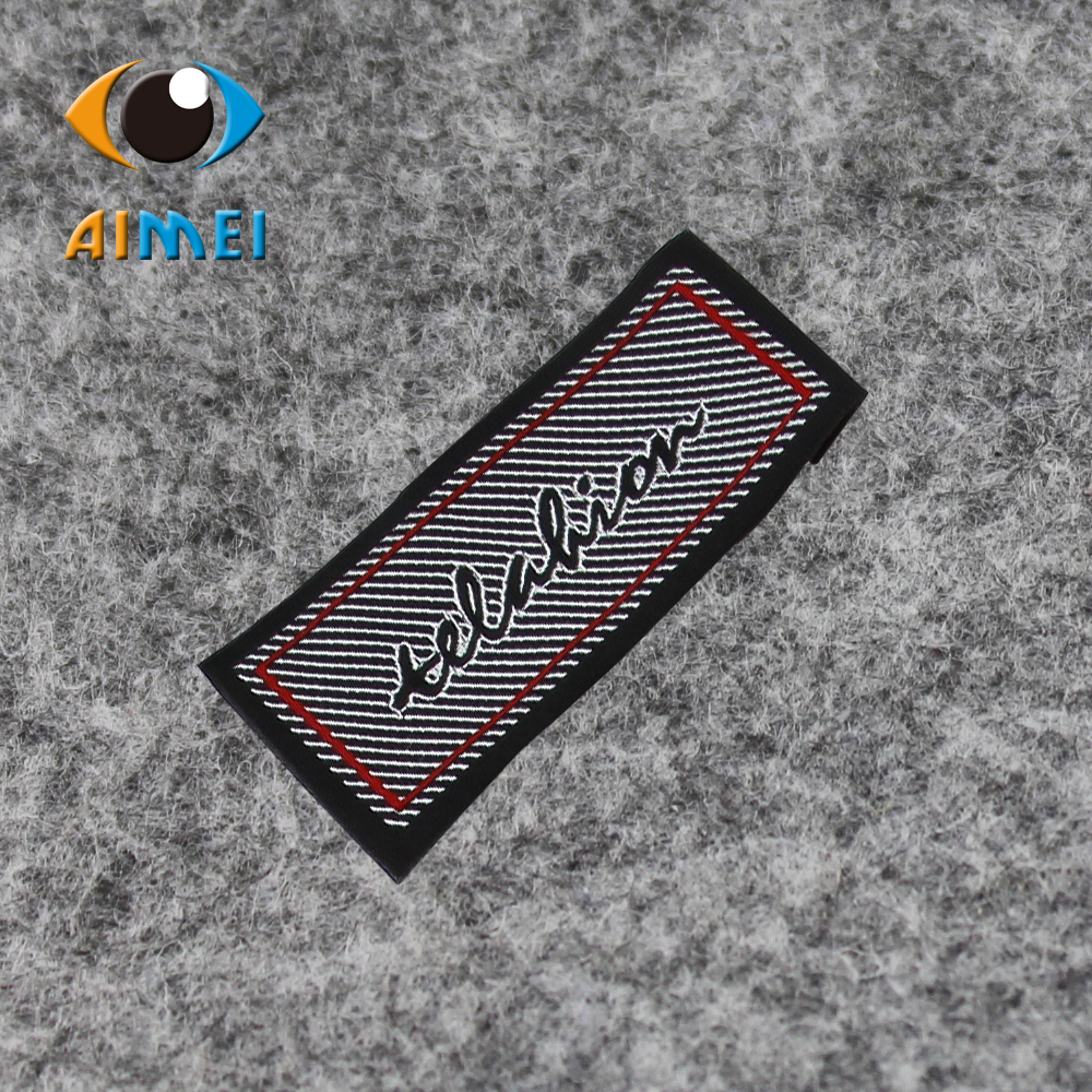 Free Design Free Shipping Customized 500pcs lot Woven labels for clothing garment embroidered labels main tags