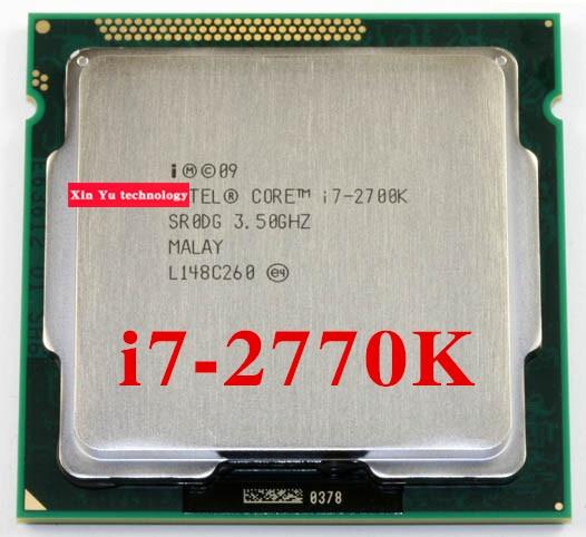 Core i7 2700K 3.5GHz 8M SR0DG Quad Core Eight threads desktop processors Computer CPU Socket LGA 1155 pin