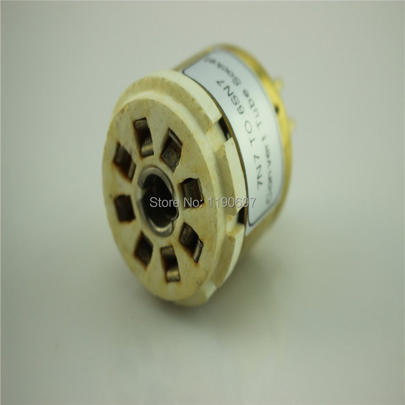 1Piece 7N7 TO 6SN7 Convert Tube Socket DIY Audio Vacuum Tube Adapter Socket Converter Free Shipping