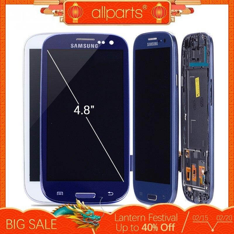 I9300i i9300 LCD Für SAMSUNG Galaxy S3 Display Bildschirm mit Rahmen Ersatz Für SAMSUNG Galaxy S3 LCD i9301 i9308i i9301i #2