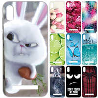 GUCOON Silicone Cover for Doogee X90 X90L Case Soft TPU Protective Phone Back Case Cartoon Wolf Flowers Cat Rose Bumper Shell