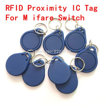 RFID  Promixity  S50 Chip Smart IC Writable Tag Rings, Keychains, Key Fobs With 13.56MHZ For M  ifare Switch  10PCS