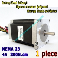 10 pieces per lot  high torque step motor 23HS33-4008S  L 84 mm Nema 23 with 1.8 deg  4 A  200 N.cm and  bipolar 8 lead wires