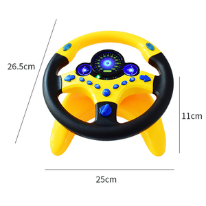Image 5 - Toy car Wheel Kids Baby Interactive toys Children Steering Wheel with Light Sound Simulation Driving Car Toy Education Toy Gift