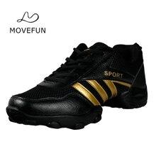 Movefun Nuevas Zapatillas de Baile Gimnasio Hombre Zapatos de Respiración de Los Hombres Modernos Profesores Zapatos de baile Fitness Deporte Zapatos de Baile de Jazz Hombres Niños 65