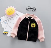 Children's Clothing 2019 Autumn Winter Baby Clothes Jacket Zipper Cartoon Baseball Clothes Boy Girls Shirt for 1-4 SY-F185009