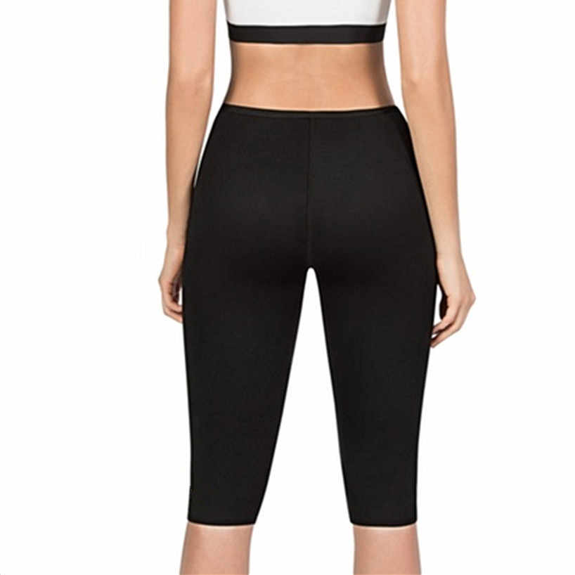 Новые женские брюки для похудения термо неопрен Пот Сауна Тела Женские штаны стрейч контроль Трусики талии Сжигание жира тонкие брюки