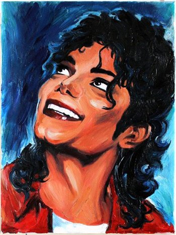 Original art michael jackson art oil painting 100 hand for Oil paint price