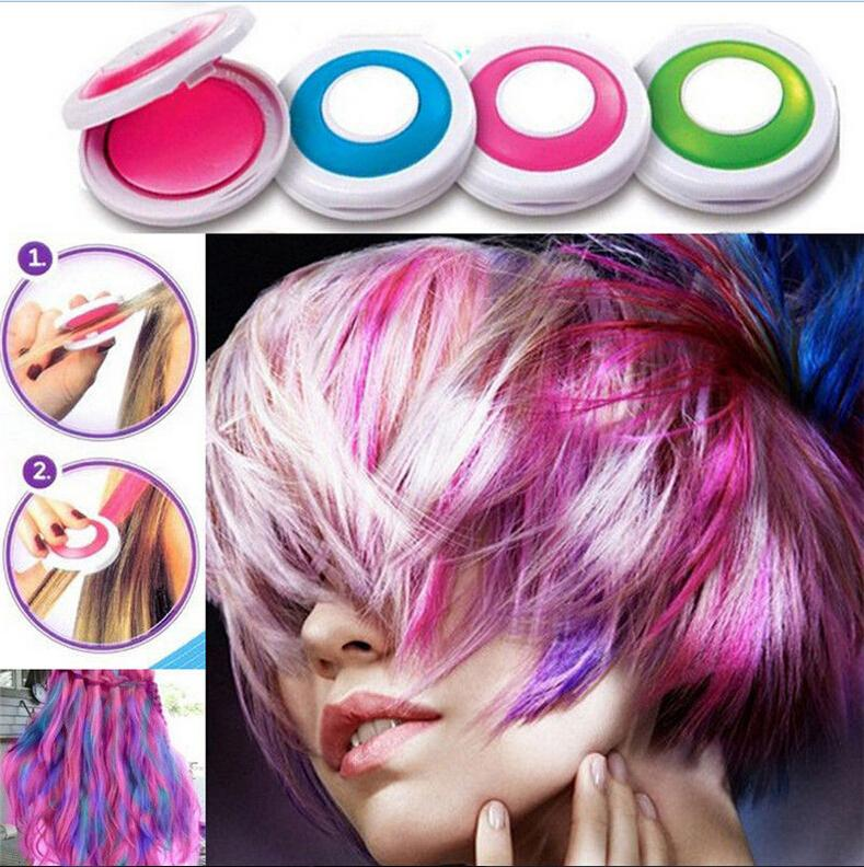4 צבעים חדשים אבקת אבק cakeTemporary שיער צבע לשיער גיר DIY סלון המפלגה פסטלים פסטלים רך פסטל עפרונות 1 יחידות