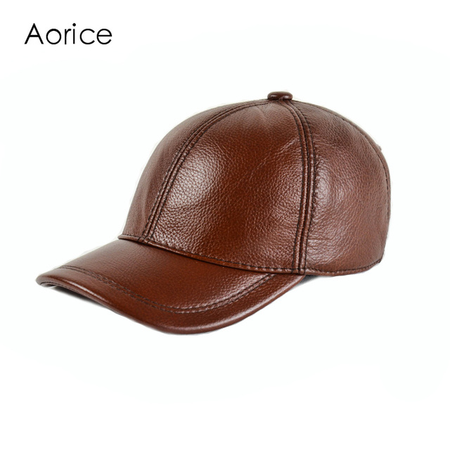 HL171-F genuine leather baseball golf/sport cap hat  men's winter warm brand new cow skin leather newsboy caps hats 5 colors
