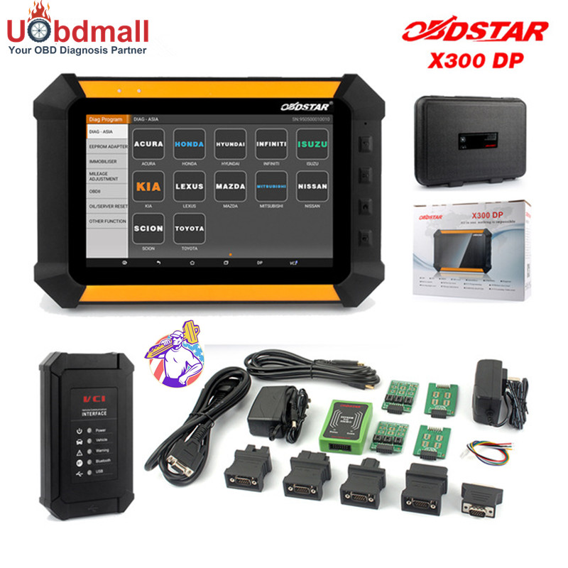 Цена за Оригинальный obdstar X300 DP X-300 Pad Auto Key Программист Пробег коррекции EEPROM адаптер EPB ABS SRS Инструмент диагностики Полный Наборы