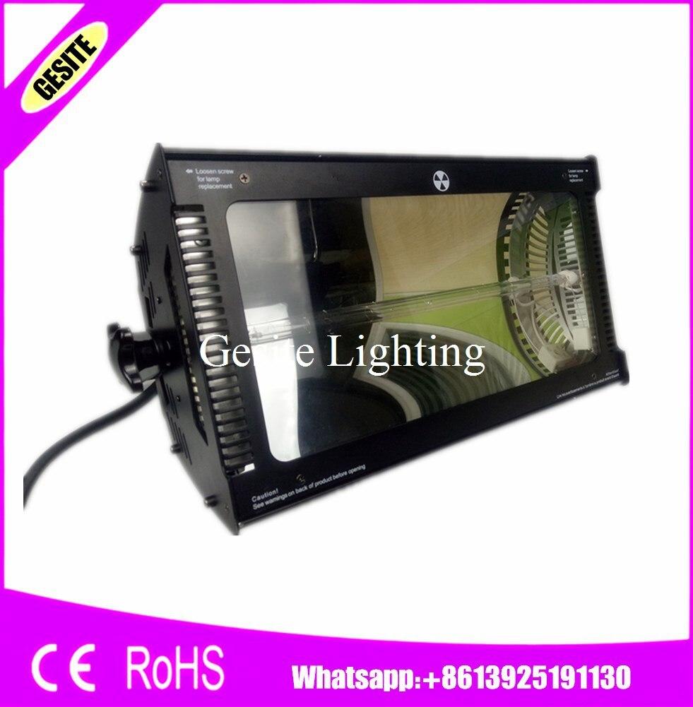 2 pcs/lot livraison gratuite 220 V-240 V 3000 W lumière stroboscopique xénon CPU DMX 512 Martin poudre électrostatique coulée noire atomique Pai