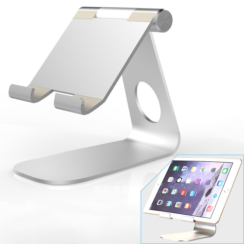 цена на Rotating Foldable Tablet Holder Aluminum Adjustable Tablet Stand Cell Phone Lazy Bracket Cradle for iPad iPhone Tablet HM01