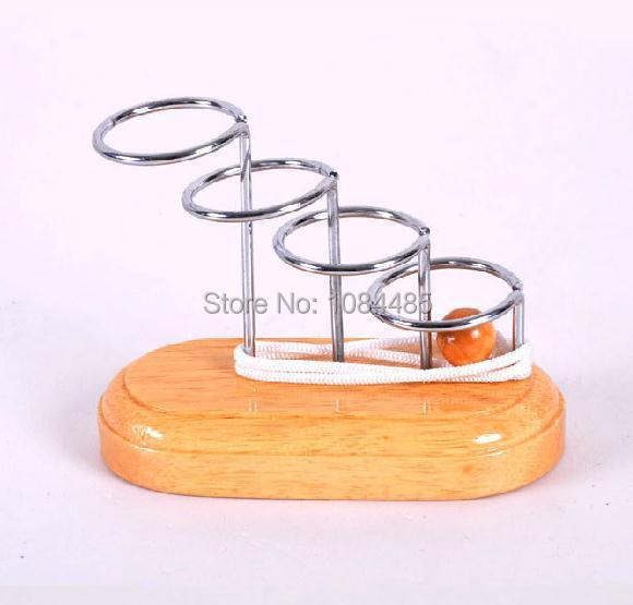 Классический 3D металл деревянный строка IQ головоломки логические веревка головоломки игры игрушки для взрослых и детей