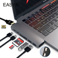 EASYA Dual USB 3 1 Type C Hub To HDMI Adapter 4K Thunderbolt 3 USB C