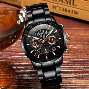 Image 4 - CRRJU marque de luxe mode montre décontractée hommes affaires montres à Quartz hommes chronographe 24 heures Date mâle horloge Relogio Masculino