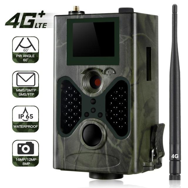 كاميرا Suntekcam HC330LTE 4G Trail كاميرا الصيد 16 mp 1080P SMTP SMS كاميرات الأشعة تحت الحمراء IR لعبة البرية درب كاميرات مصيدة الصور