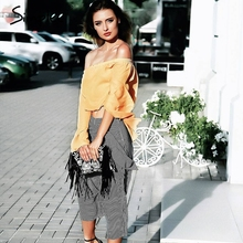 Simplee Sexy off shoulder flare sleeve blouse shirt Casual soft chiffon short blouse blusas 2017 Summer beach blouse women tops