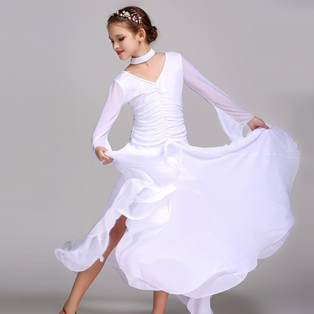 White Red ballroom dancing dresses for kids ballroom dress china girls  ballroom dance competition dresses waltz Spanish flamenco c5548418e