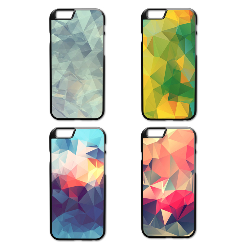 Colorful Geometry Cover Case for iPhone 4 4S 5 5S 5C SE 6 6S 7 Plus Samsung Galaxy S3 S4 S5 Mini S6 S7 S8 Edge Plus A3 A5 A7