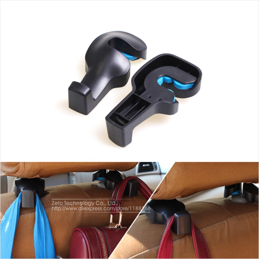 2pcs/lot New Vehicle Auto Car Accessories Seat Bag Hook Hanger Holder Organizer Coat Hanger Clothes Jackets Suits Holder