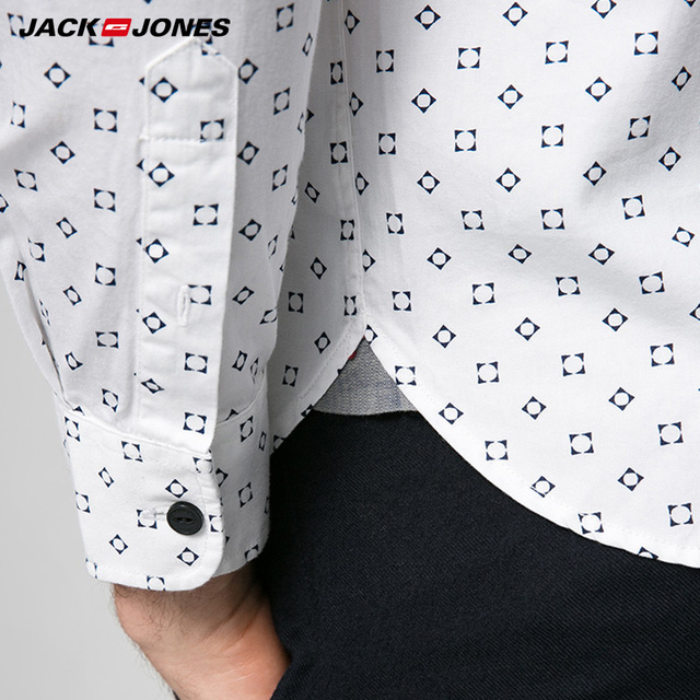 JACKJONES Brand  Men HOT Casual shirts Male slim shirts regular cotton 100%  Male tops| 216105034 3