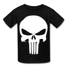 91e5076fc Design Tee Shirt Men'S Short Sleeve Printing Machine O-Neck Gift Static Punisher  Skull Logo T Shirts
