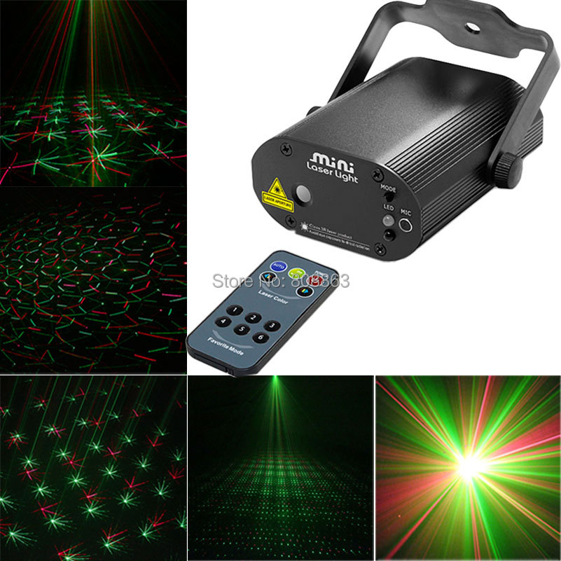 Mini Laser Projector R&G Remote Lines Stars Patterns effect lighting Light DJ dance Disco bar Xmas Party Stage Lights Show D36 mini rgb led party disco club dj light crystal magic ball effect stage lighting