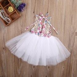 Pudcoco Criança Bebê Recém-nascido Crianças Meninas Tutu Bonito Do Partido Vestido de Renda Tule Splice Mini Vestidos de Verão Vestido de Princesa
