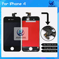 10pcs No Dead Pixel High Copy Touch Screen Digitizer For iPhone 4 LCD Display Replacement with Black and White  DHL