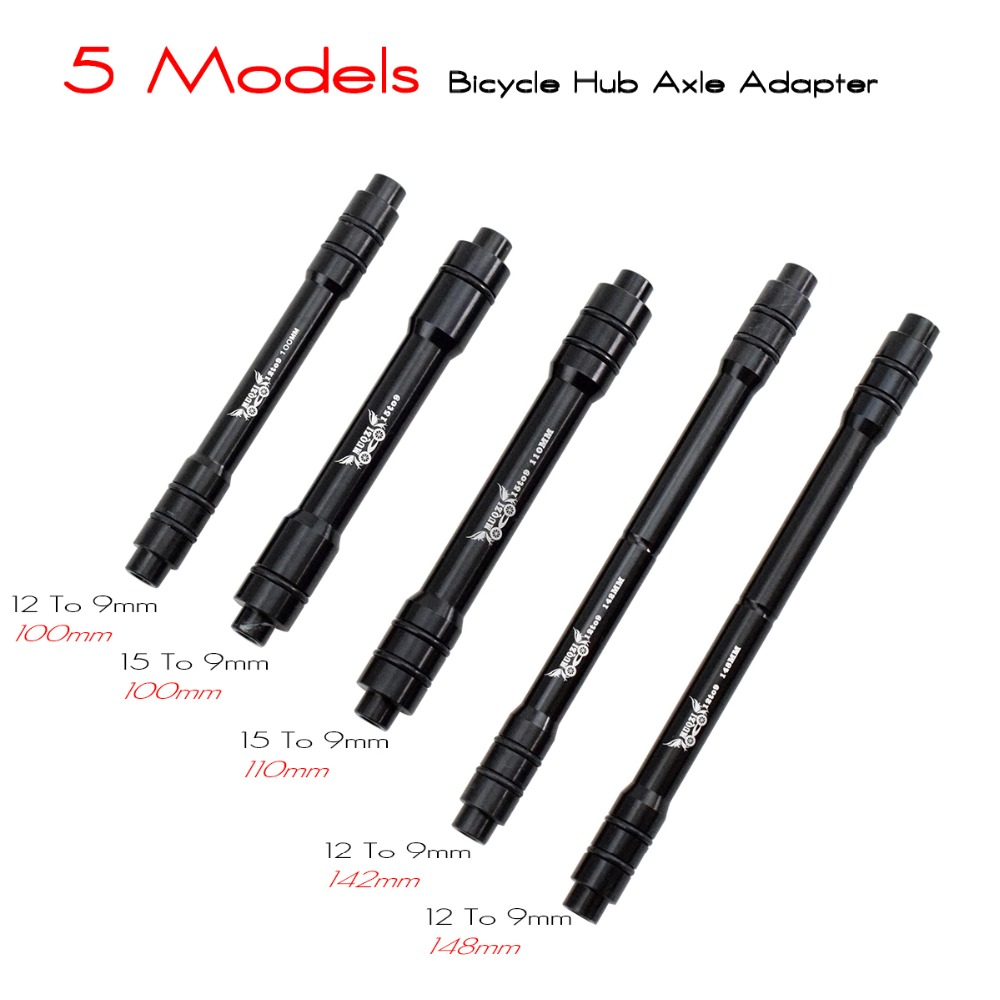 Bike Bicycle 12mm Thru Axle Hub Adapter to 9mm Quick Release Skewer 142mm