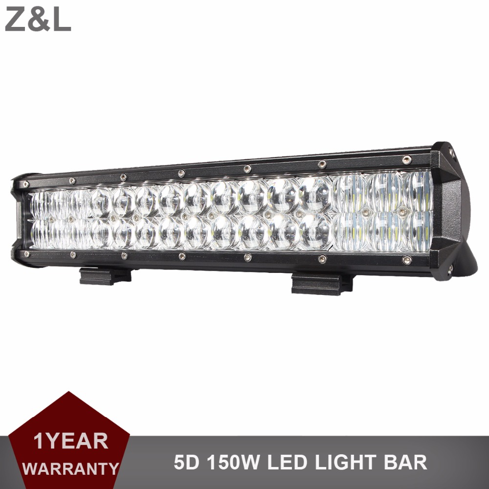 5D 150W 15'' Offroad LED Work Light Bar 12V 24V Car Pickup Auto Truck Boat Tractor ATV AWD 4X4 4WD Trailer SUV Driving Headlight 20 126w offroad led light bar 12v 24v car pickup auto truck boat tractor atv awd 4x4 4wd trailer yacht wagon driving headlamp