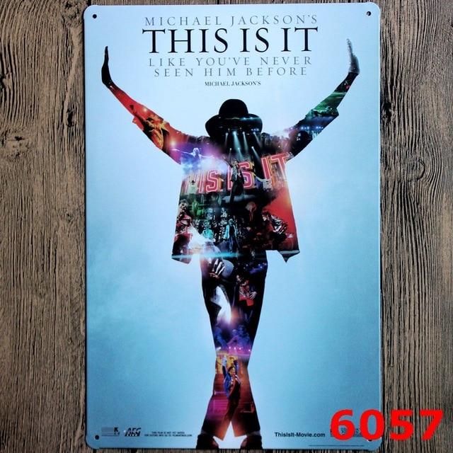Us 699 Michael Jackson Rocznika Cinima Muzyczne Bar Dekoracje ścienne Home Decor Plakietka Emaliowana Metal Zarejestruj Sztuka W Stylu Vintage