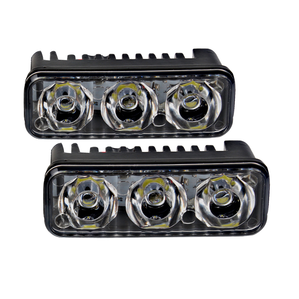 2PCS Auto Day Light Waterproof DC 12V Daytime Running Light Car DRL 6 LED Bulbs Car-styling Universal Vehicle Fog Lamp universal 7 8 22mm cnc motorcycle handlebar protector guard proguard brake clutch levers protect for ducati monster 696 695 796