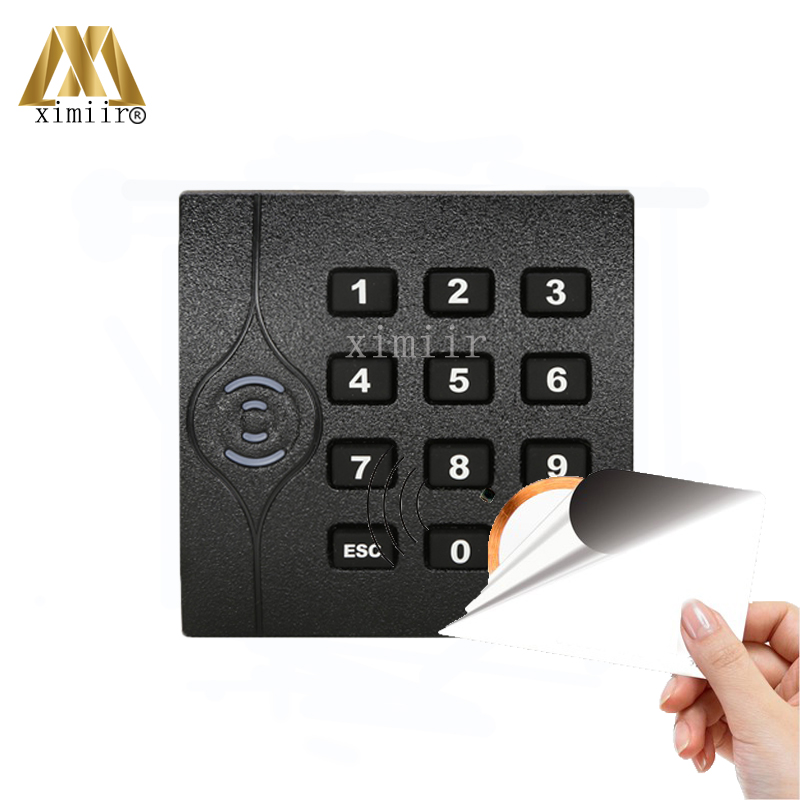 IP65 Waterproof Black Color MF Card Reader For Door Access Control System Wiegand34 13.56MHZ Card Reader ZK KR202 IC Card Reader ic usb reader 13 56mhz usb ic reader for user enrollment mf m1 card enroller page 2