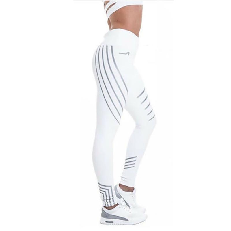 Sport Women Yoga Pants Fitness Leggings Light High Elastic Shine Leggins Workout Slim Fit Women Pants Black Jeggings Trousers 5