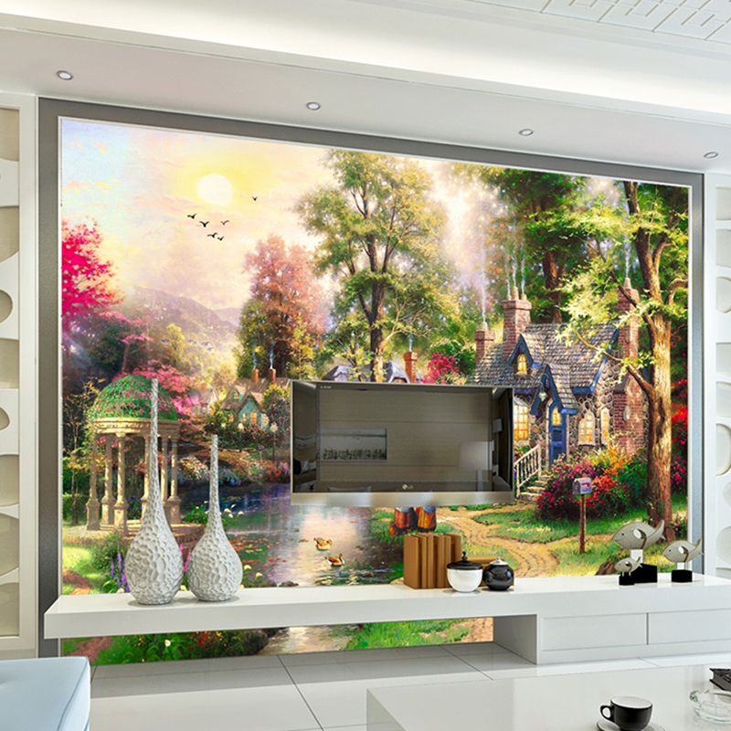 Wallpaper Custom Photo Mural Decoration Painting 3d Wall murals Pastoral wallpaper for walls 3 d living room Bedroom, corridor 3d wall murals wallpaper for living room walls 3 d photo wallpaper sun water falls home decor picture custom mural painting