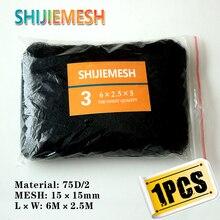High quality 6M x 2.5M 15mm Hole Orchard Garden Polyester 75D/2 bat net Anti Bird Mist Net 1 pcs