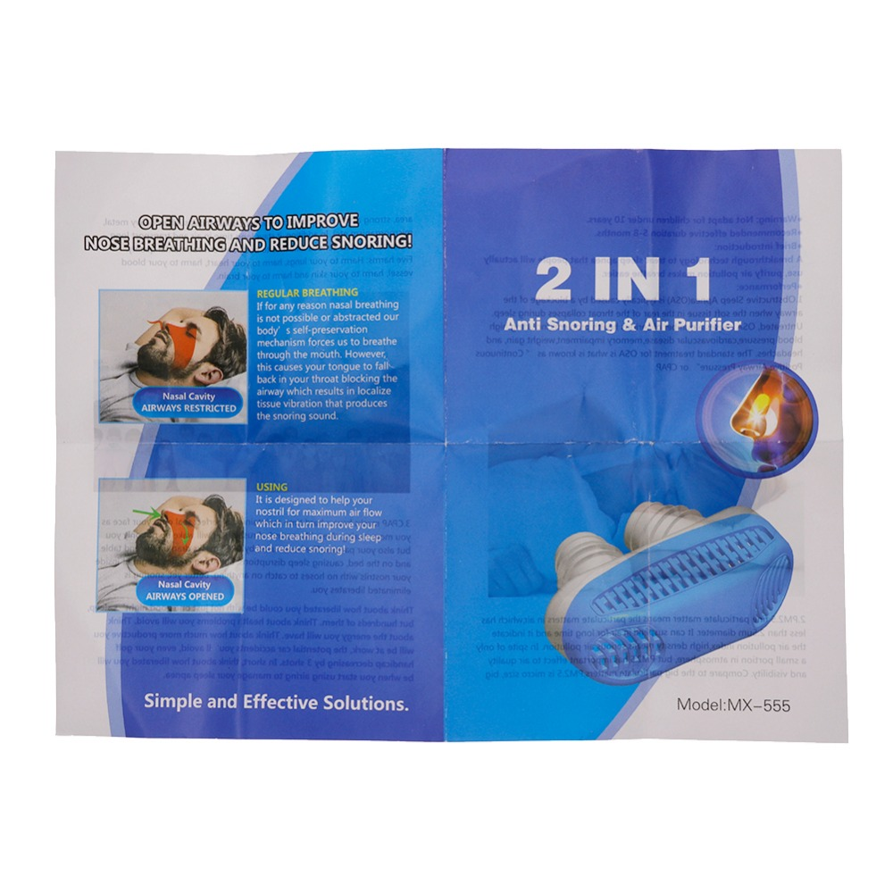 Mini Anti Snoring Device for Relieving Snore and Nasal Congestion Made of ABS and silicone material 5